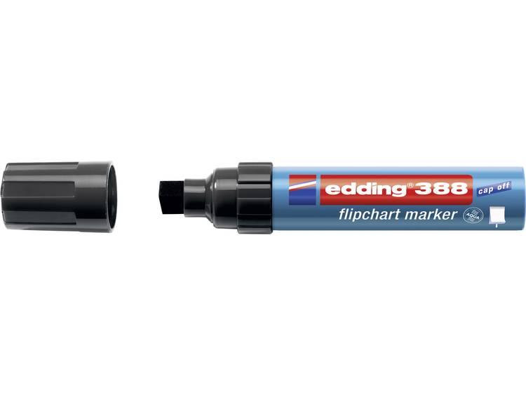 Edding 4-388001 Flipchartmarker 388 Beitelpunt 4 - 12 mm Zwart 1 stuks