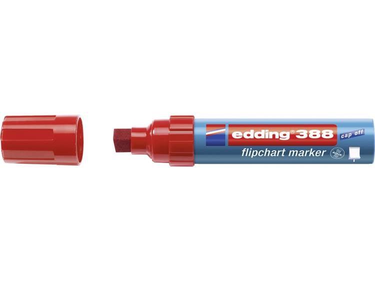 Edding 4-388002 Flipchartmarker 388 Beitelpunt 4 - 12 mm Rood 1 stuks