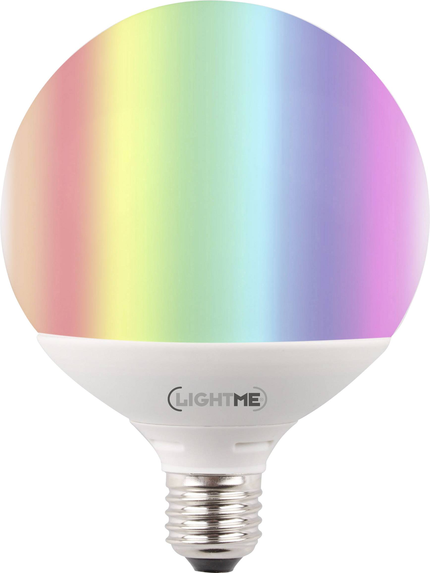 lightme lm85195 led lamp e27 bol 10 w 60 w rgbw colorchanging incl afstandsbediening energielabel a a e 1 stu
