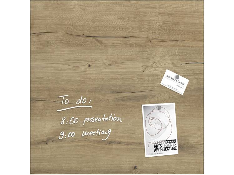 Sigel artverum® Natural Wood (b x h x d) 480 x 480 x 15 mm Hout GL254