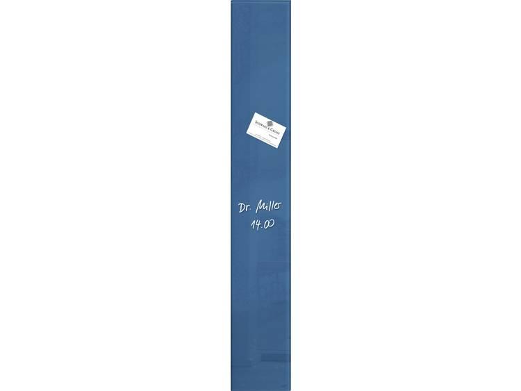 Glasbord Sigel magnetisch 120x780x15mm petrolblauw