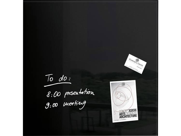 Sigel artverum® (b x h x d) 480 x 480 x 15 mm Zwart GL110