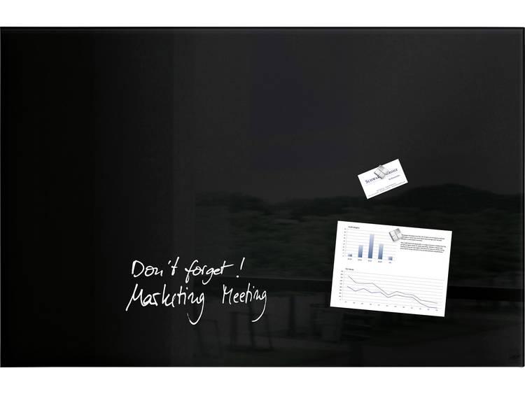 Glasbord Sigel magnetisch 1000x650x15mm zwart