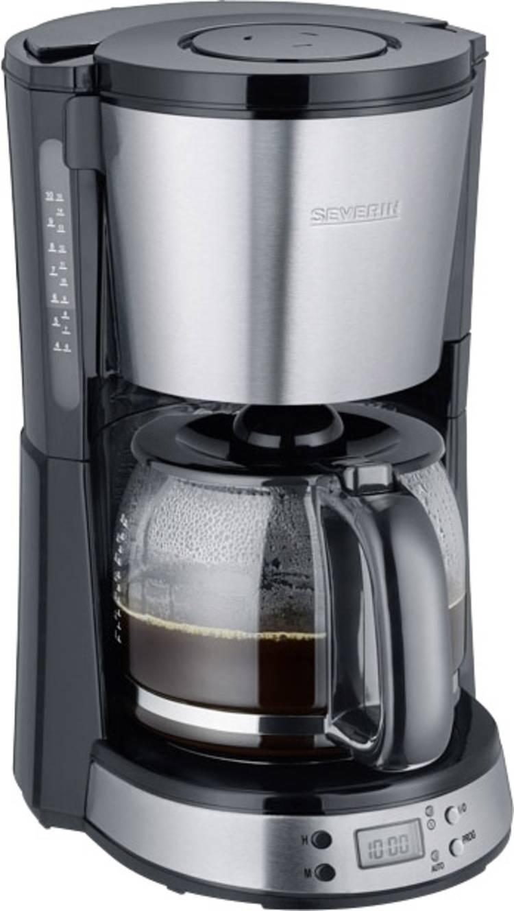Image of Koffiezetapparaat Severin KA 4192 RVS (geborsteld), Zwart Capaciteit koppen=10 Timerfunctie