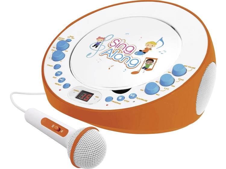 Dual CP 18 Kinder CD-speler AUX, CD Incl. karaoke-functie, Incl. microfoon Oranje