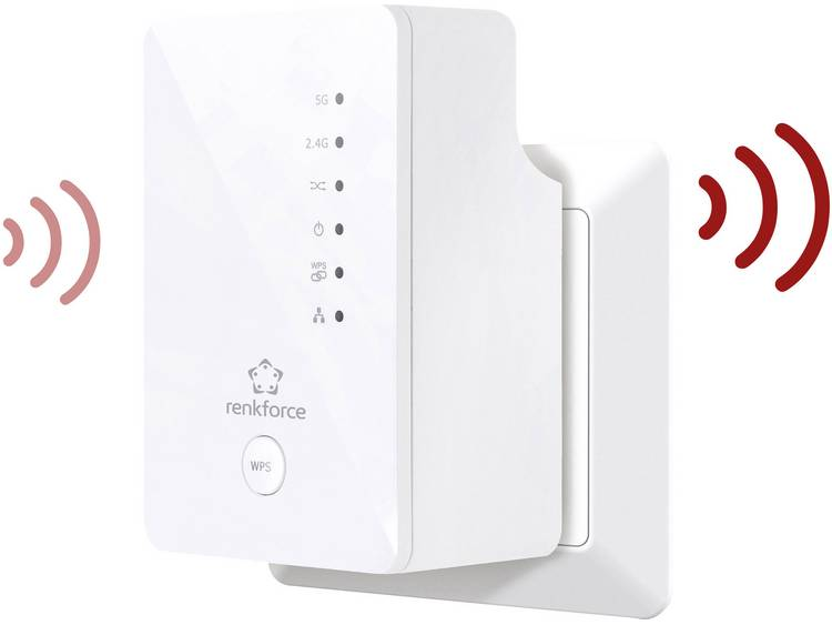 Renkforce RF-WR-1200RF WiFi versterker 1.2 Gbit/s 2.4 GHz, 5 GHz