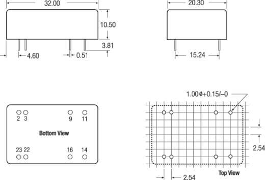RECOM REC7.5-4815DRW/AM DC/DC-converter, print 48 V/DC 15 V/DC, -15 V/DC 250 mA 7.5 W Aantal uitgangen: 2 x