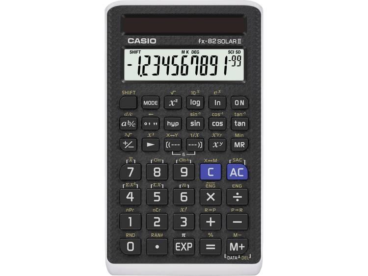 Schoolrekenmachine Casio fx 82 SOLAR II Zwart Aantal displayposities 12 werkt o