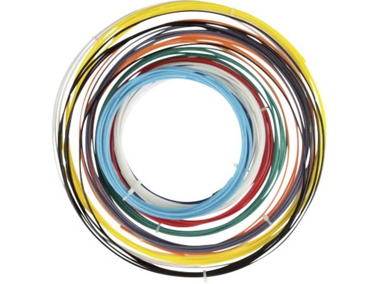 Velleman PLA175SET6 Filament PLA kunststof 1.75 mm Zwart, Wit, Rood, Zilver, Geel, Lichtblauw