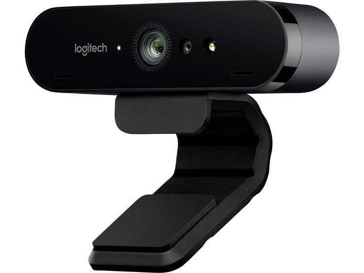 Logitech BRIO 4K-webcam 4096 x 2160 pix Standvoet, Klemhouder
