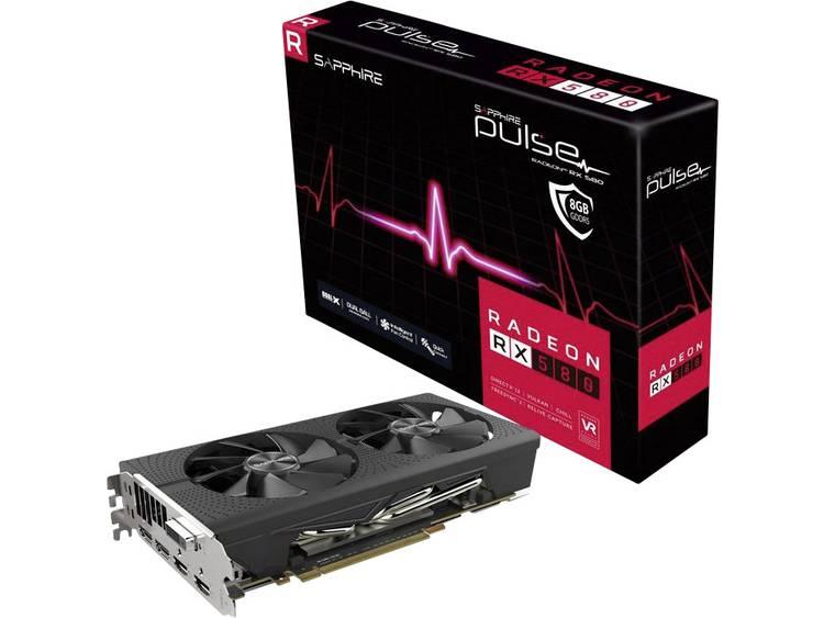 Videokaart Sapphire AMD Radeon RX 580 Pulse 8 GB GDDR5-RAM PCIe x16 HDMI, DVI, DisplayPort