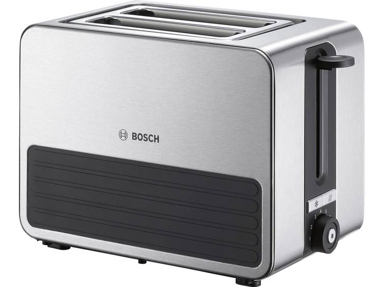 BOSCH compacte toaster TAT7S25, grijs-zwart