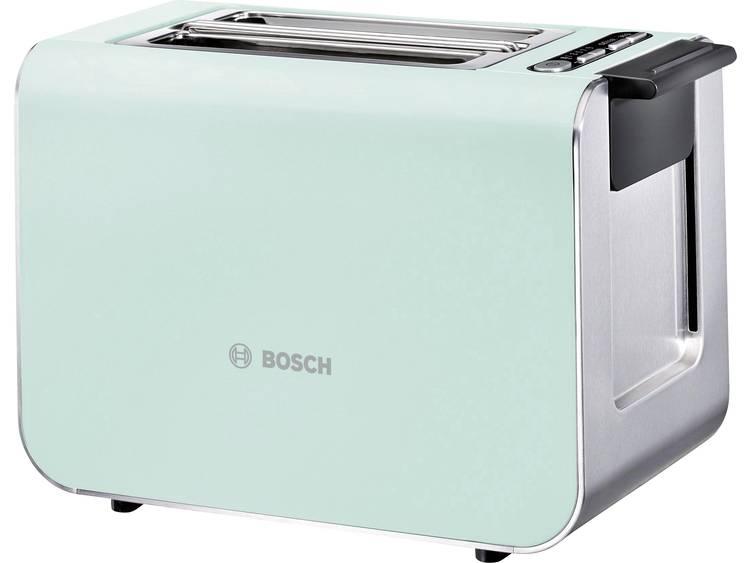 Bosch Haushalt TAT8612 Broodrooster Met geïntegreerde broodopzet Lichtgroen, RVS