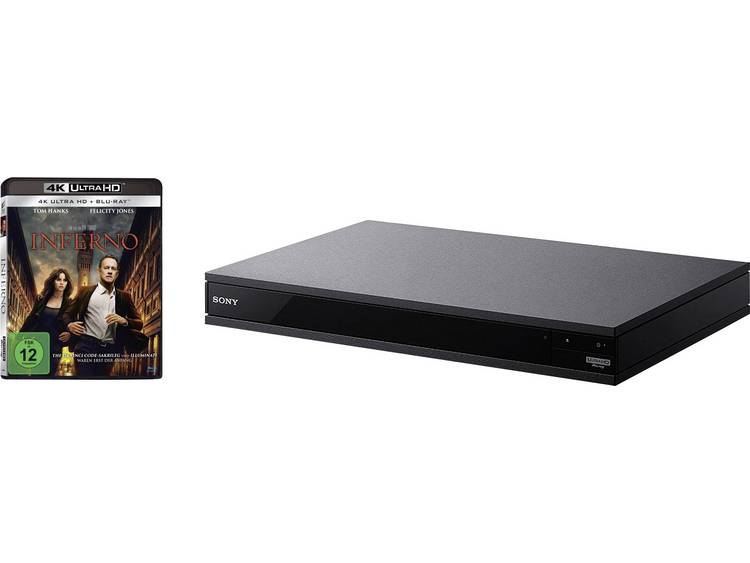 SONY UBP-X800B 4K Ultra HD blu-ray-speler, zwart incl. Inferno 4K Ultra HD blu-ray