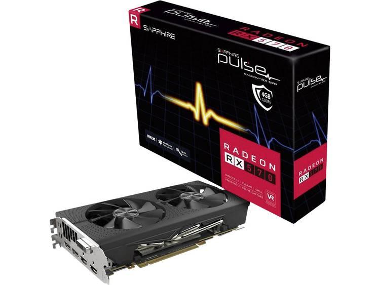 Videokaart Sapphire AMD Radeon RX 570 Pulse 4 GB GDDR5-RAM PCIe x16 HDMI, DVI, DisplayPort