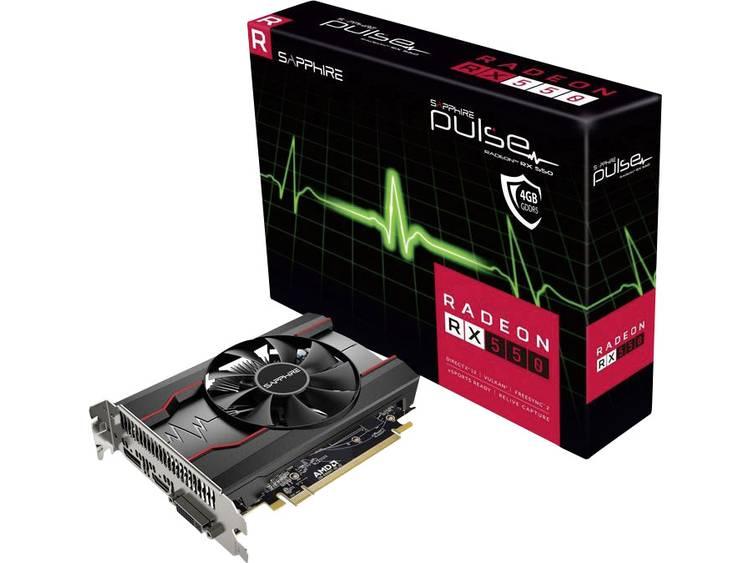 Videokaart Sapphire AMD Radeon RX 550 Pulse 4 GB GDDR5-RAM PCIe x16 HDMI, DVI, DisplayPort