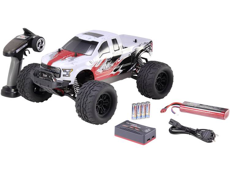 Reely NEW1 1:10 Brushless RC auto Elektro Monstertruck 4WD 100% RTR 2,4 GHz Incl. accu, oplader en b