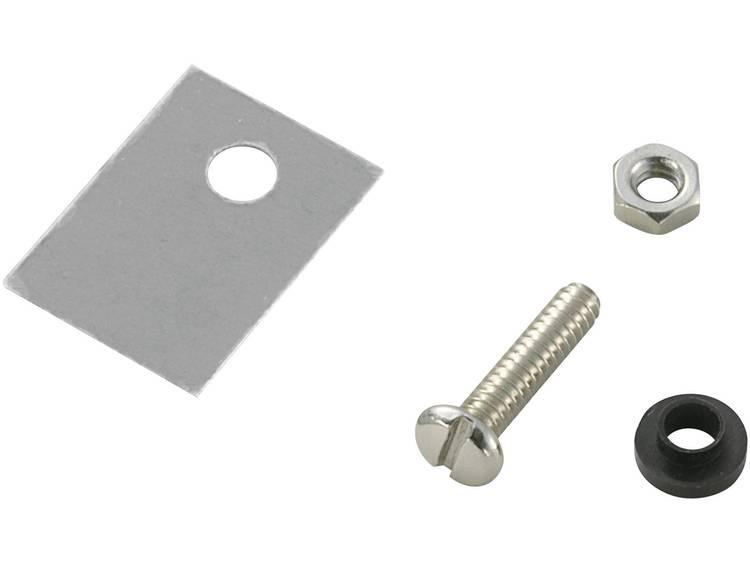 Halfgeleider montageset (l x b) 18 mm x 13 mm Geschikt voor TO-220 SCI A18-9B 1 set