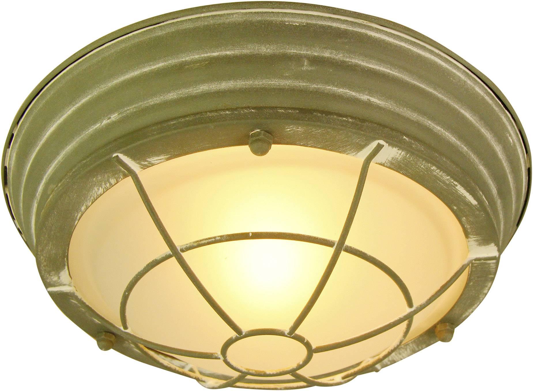 Plafondlamp led e w beton grijs groen brilliant typhoon