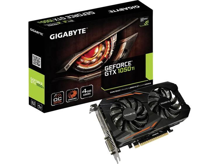 Videokaart Gigabyte Nvidia GeForce GTX1050 Ti Overclocked 4 GB GDDR5-RAM PCIe x16 HDMI, DVI, DisplayPort