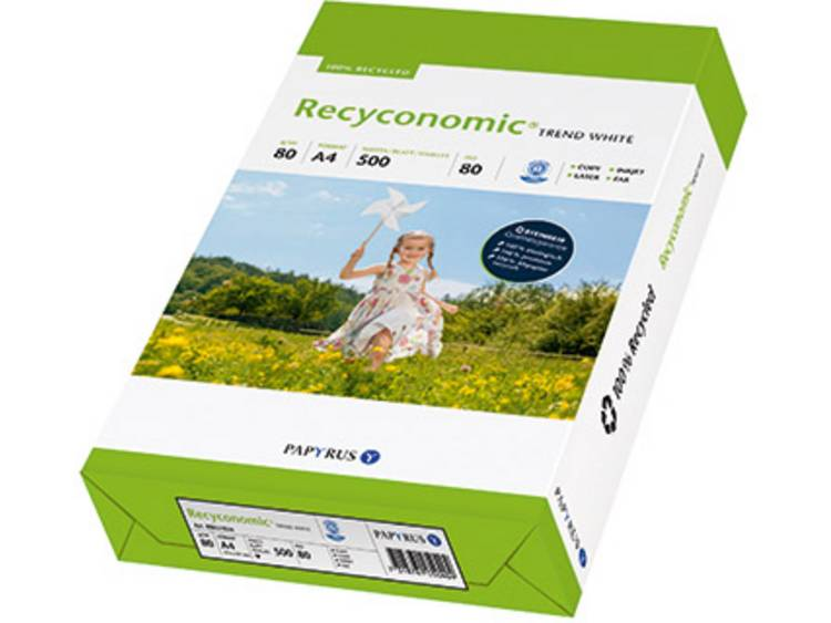 Papyrus Gerecycled printpapier DIN A4 80 g/m² 500 vellen Wit