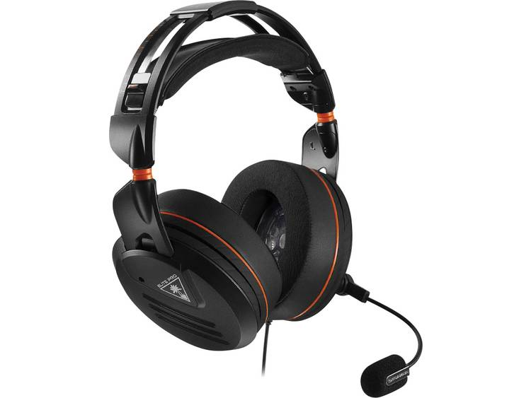 Gaming headset 3.5 mm jackplug Kabelgebonden, Stereo Turtle Beach Ear Force Elite PRO Over Ear Zwart