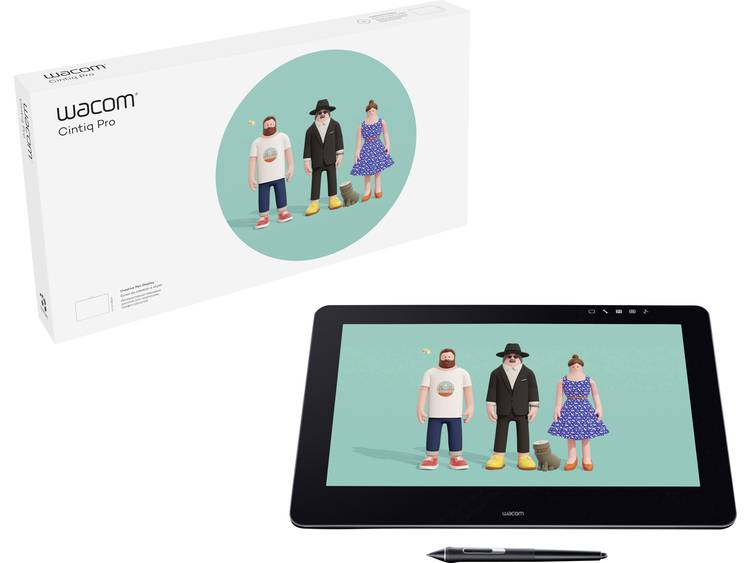 Wacom Cintiq Pro 16 UHD USB grafisch tablet Zwart