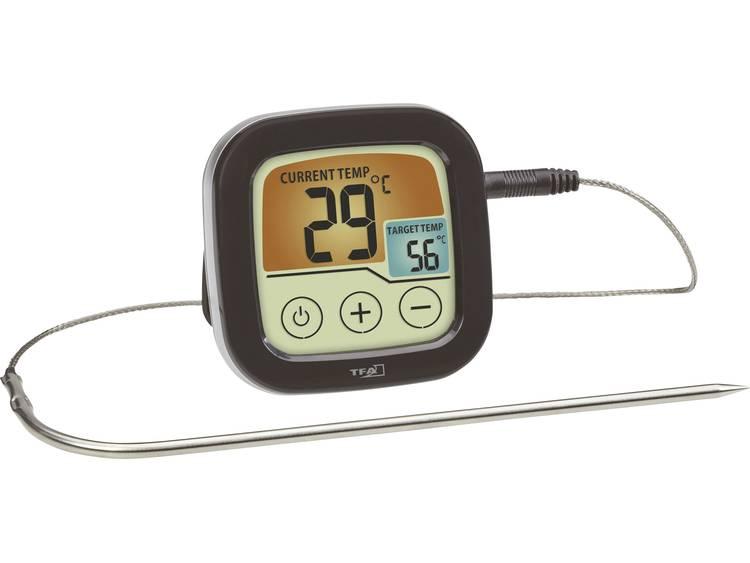 Barbecuethermometer bewaking van kerntemperatuur, met touchscreen, kabelsensor TFA 14.1509.01 braden