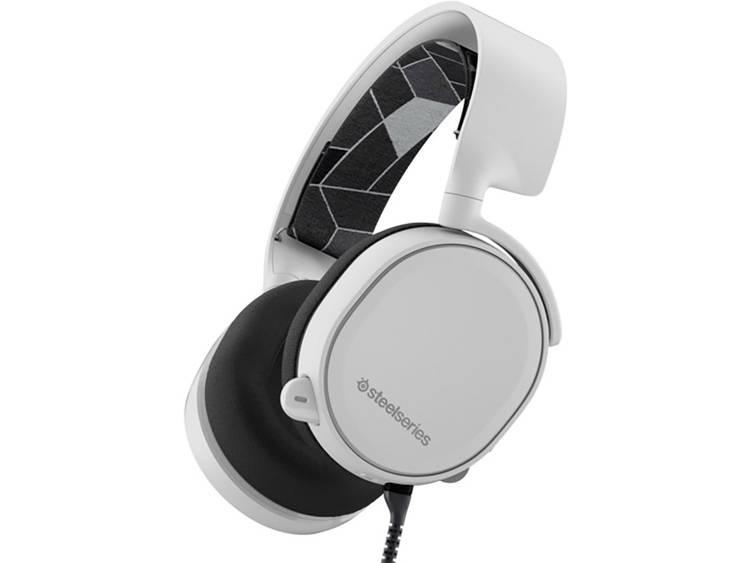 Gaming headset 3.5 mm jackplug Kabelgebonden Steelseries Artic 3 Over Ear Wit