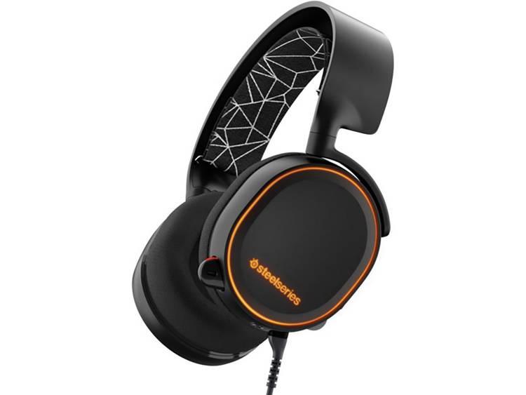 Gaming headset USB, 3.5 mm jackplug Kabelgebonden Steelseries Artic 5 Over Ear Zwart