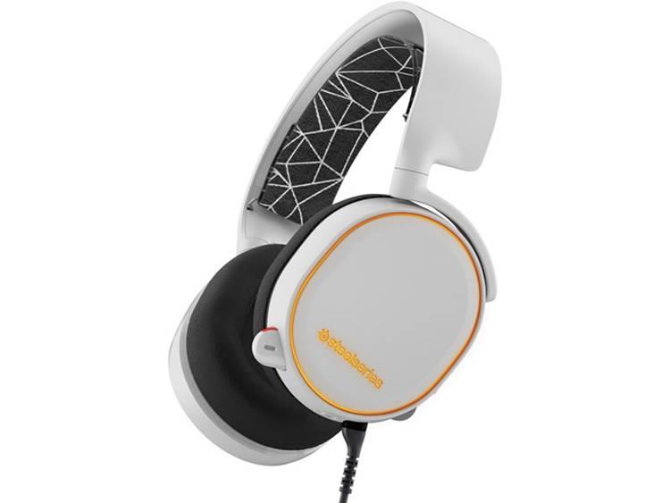 Gaming headset USB, 3.5 mm jackplug Kabelgebonden Steelseries Artic 5 Over Ear Wit