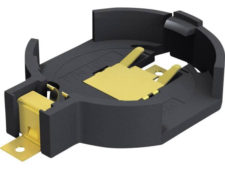 Keystone 1070 Knoopcelhouder 1 CR2032 Horizontaal, Oppervlakte montage SMD (l x b x h) 28.38 x 20 x 5.97 mm