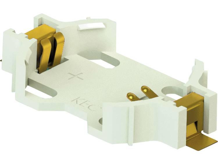 Keystone 1058 Knoopcelhouder 1 CR2032 Horizontaal, Oppervlakte montage SMD (l x b x h) 28.40 x 16 x 5 mm
