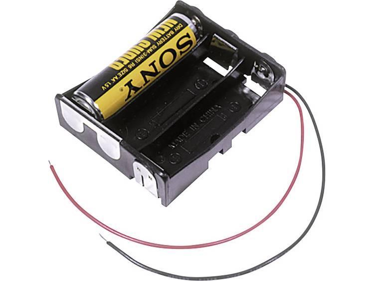 MPD BA3AAW Batterijhouder 3 AA (penlite) Kabel (l x b x h) 58 x 48 x 16 mm