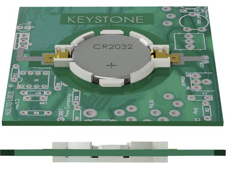 Keystone 1057 Knoopcelhouder 1 CR2032 Horizontaal, Oppervlakte montage SMD (l x b x h) 33.15 x 23.93 x 5.21 mm