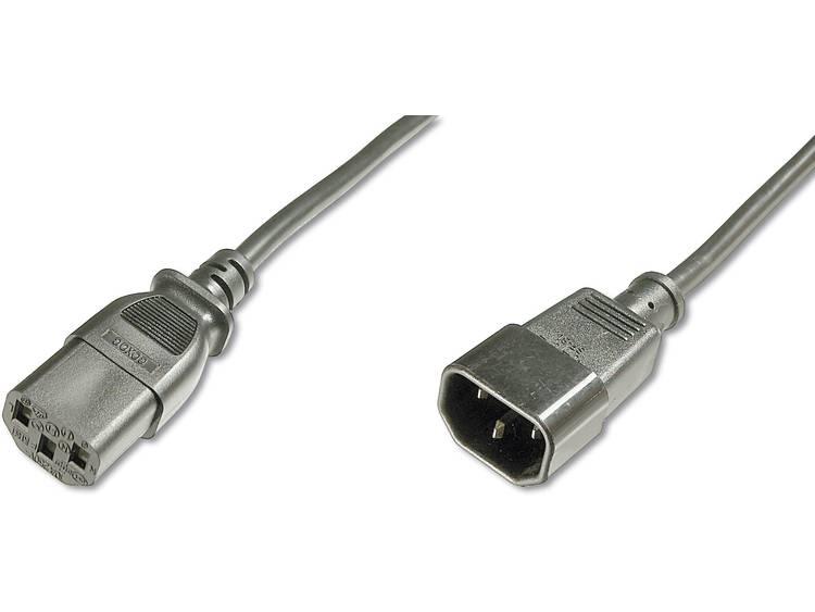 Kabel Digitus Apparaat, Stroom [1x Apparaatstekker, male C14 - 1x Apparaatstekker, female C13 10A] 1.8 m Zwart