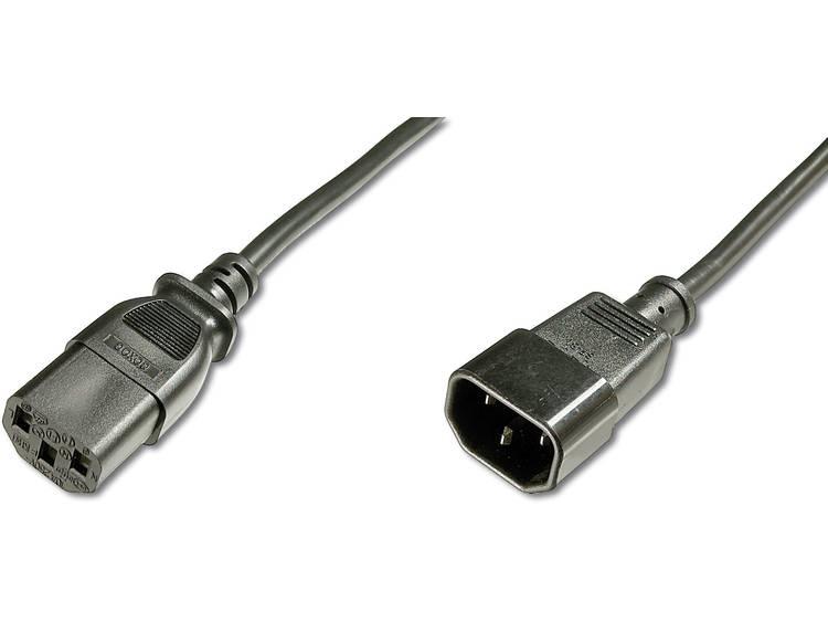 Verlengkabel Digitus Apparaat, Computer, Stroom [1x Apparaatstekker, male C14 - 1x Apparaatstekker, female C13 10A] 1.8 m Zwart