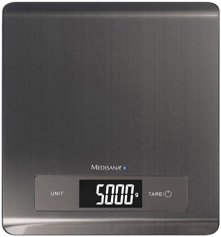 Digitale keukenweegschaal Met voedingswaardetabel Medisana KS 250 Weegbereik (max.)=5 kg Zwart