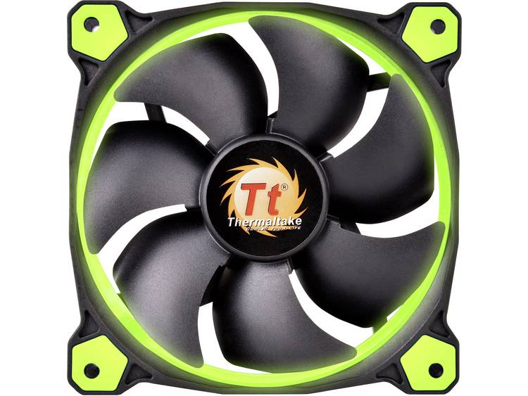 PC ventilator Thermaltake RIING LED Groen (b x h x d) 120 x 120 x 25 mm