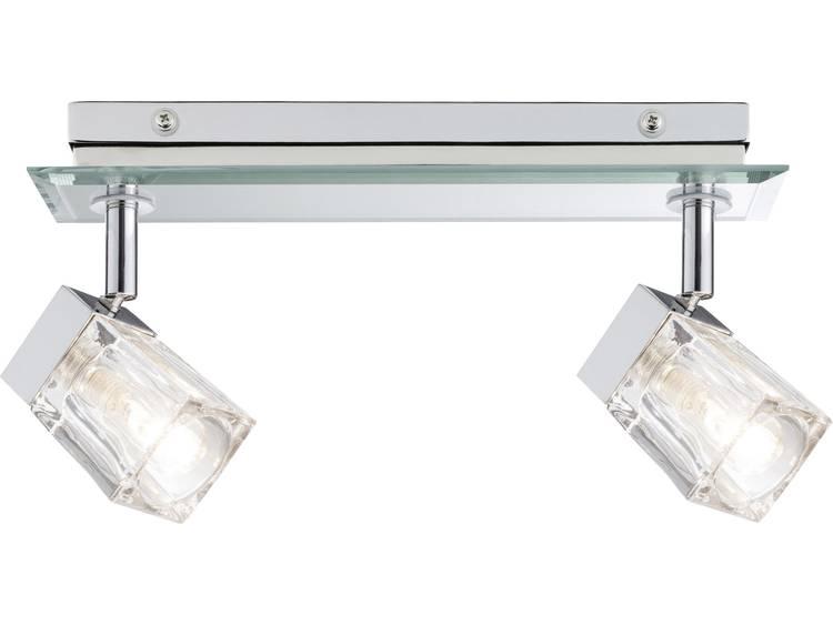 Badkamer plafondlamp LED LED vast ingebouwd 40 W Paulmann Trabani 70841 Chroom, Transparant