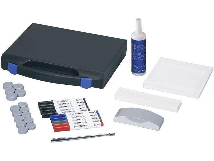 Whiteboard accessoireset, kunststof koffer