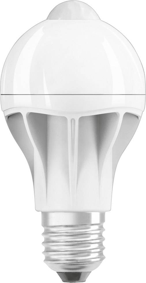 osram 4058075810709 led lamp e27 peer 9 w 60 w warmwit incl bewegingsmelder energielabel a a e 1 stuks