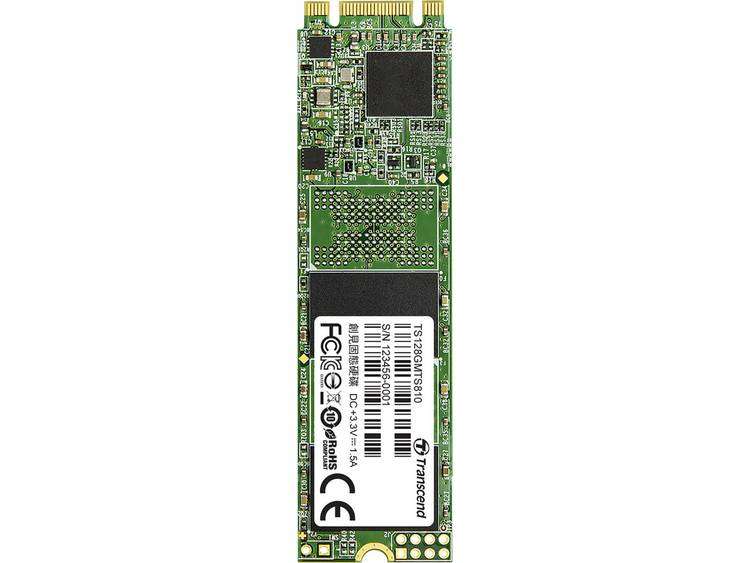 SATA M.2 SSD 2280 harde schijf 128 GB Transcend MTS810 Retail TS128GMTS810 M.2