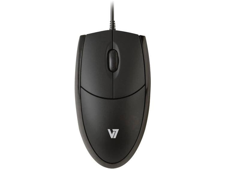 V7 Videoseven MV3000010-BLK-5E USB muis Optisch Zwart