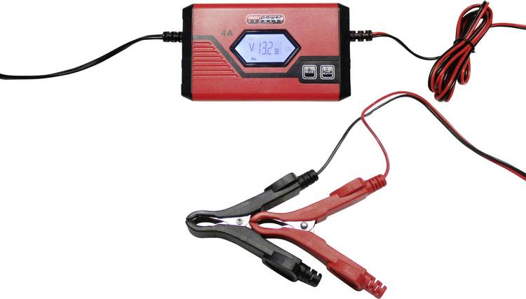 Druppellader. Oplader Profi Power ICS4 6 12V 6 V. 12 V 1 A. 4 A 1 A. 4 A