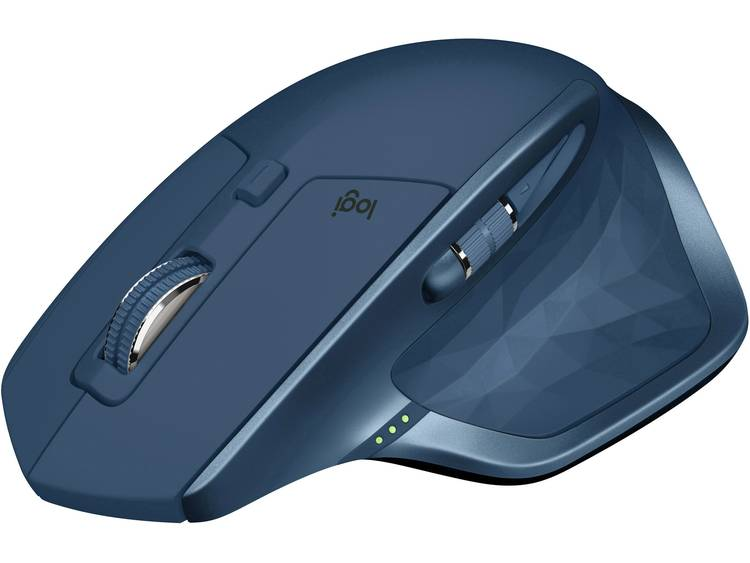 Logitech MX Master 2S Bluetooth muis Laser Oplaadbaar, Ergonomisch Middernachtsblauw