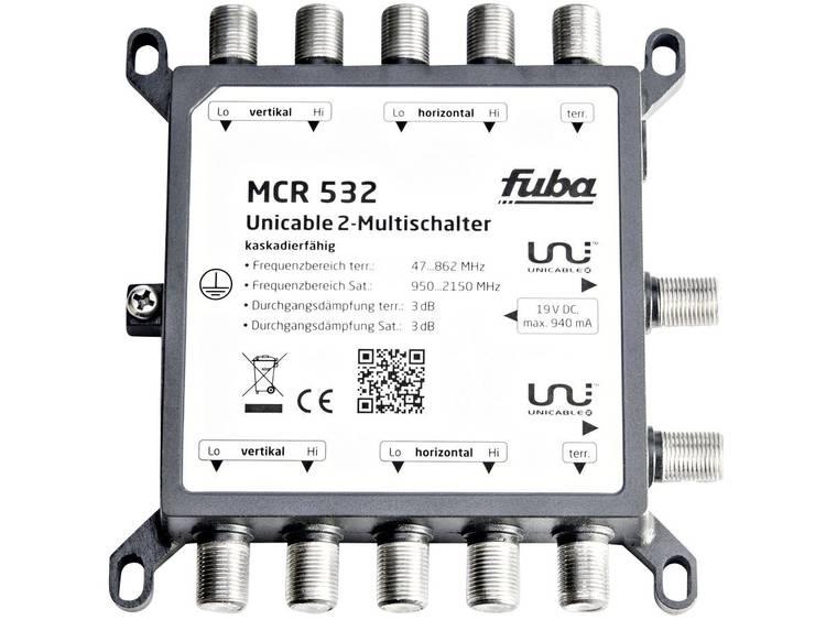 fuba MCR 532 Satelliet multiswitch unicable 2 Ingangen (satelliet): 5 (4 satelliet / 1 terrestrisch) Aantal gebruikers: 32
