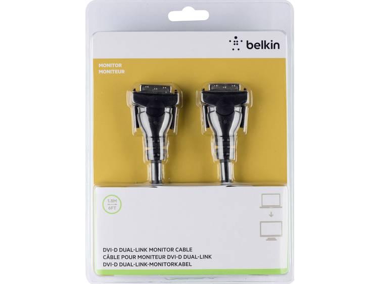 DVI Kabel Belkin [1x DVI-stekker 24+1-polig - 1x DVI-stekker 24+1-polig] 1.8 m Zwart