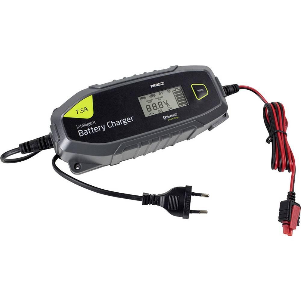 Laadmonitor, Accubewaker ProUser Mikroprozessor Ladegerät Bluetooth 7,5A -IBC 7500B 24 V, 12 V 7.5