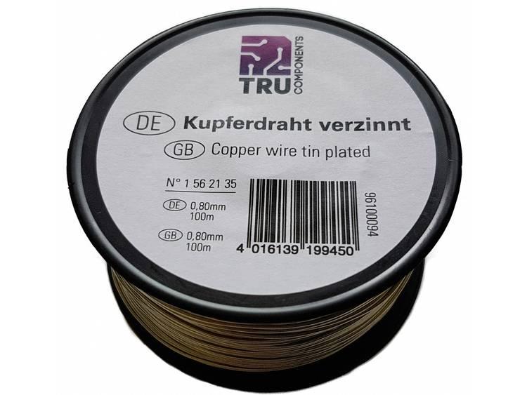 TRU COMPONENTS 1562124 Koperdraad Vertind 1 x 100 m